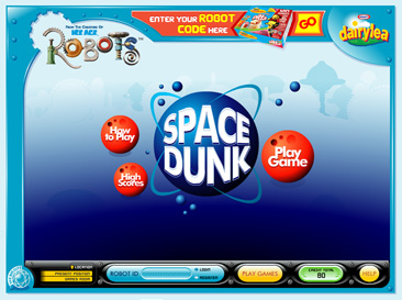 Space Dunk menu